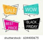 sale  discount banners best... | Shutterstock .eps vector #634400675