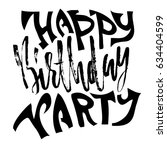 happy birthday party. modern... | Shutterstock .eps vector #634404599