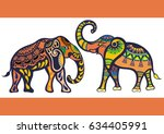 elephants | Shutterstock .eps vector #634405991