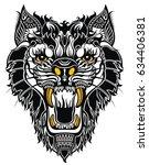 aggressive tiger | Shutterstock .eps vector #634406381