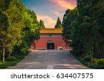 ming xiaoling mausoleum  the... | Shutterstock . vector #634407575