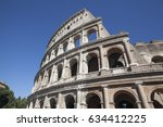 Exterior View Of The Colosseum...