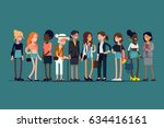 lovely flat design illustration ... | Shutterstock .eps vector #634416161