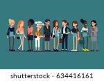 lovely flat design illustration ... | Shutterstock .eps vector #634416161