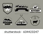 set of butchery logos or... | Shutterstock . vector #634423247