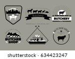 set of butchery logos or... | Shutterstock . vector #634423247