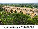 pont du gard  in provence ... | Shutterstock . vector #634428881