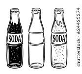 set of soda bottles isolated on ... | Shutterstock .eps vector #634435274