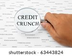 the word credit crunch is...