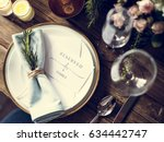 Reserved service elegance luxury party - stock photo