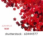 celebration red  floral... | Shutterstock . vector #63444577