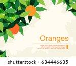 Fresh Background With Oranges...