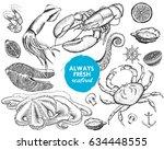 seafood | Shutterstock .eps vector #634448555