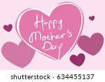 mother's day vector... | Shutterstock .eps vector #634455137