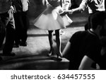 vintage style photo of dance... | Shutterstock . vector #634457555