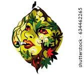 marijuana psychedelic art | Shutterstock .eps vector #634462265