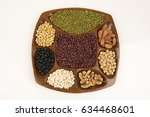 whole grains are beneficial to... | Shutterstock . vector #634468601