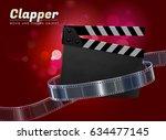 clapper cinema movie theater... | Shutterstock .eps vector #634477145