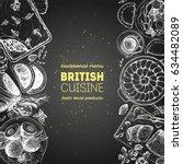 british cuisine top view... | Shutterstock .eps vector #634482089