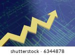 Business graph I - stock photo