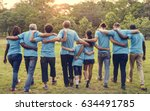 group of diversity people... | Shutterstock . vector #634491785