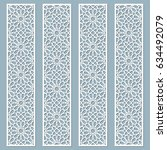 laser cut decorative lace... | Shutterstock .eps vector #634492079