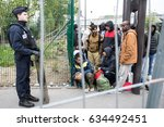 paris   may 5  2017  a group of ... | Shutterstock . vector #634492451