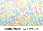 vector 3d background with... | Shutterstock .eps vector #634495619
