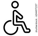 handicap vector icon   Shutterstock .eps vector #634497257