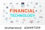 financial technology and... | Shutterstock .eps vector #634497359