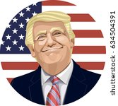 donald trump. the president of... | Shutterstock .eps vector #634504391