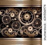 abstract background metallic... | Shutterstock .eps vector #634506974