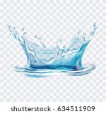 blue water splash vector... | Shutterstock .eps vector #634511909