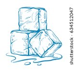 vector sketch of ice cubes.... | Shutterstock .eps vector #634512047