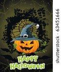 vector halloween background... | Shutterstock .eps vector #63451666