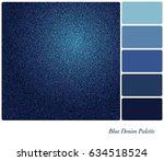 a background of indigo blue... | Shutterstock .eps vector #634518524