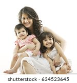 portrait of a mother and her... | Shutterstock . vector #634523645