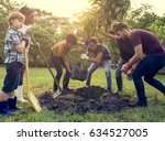 Group Of People Plant A Tree...