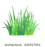 spring grass watercolor as... | Shutterstock . vector #634527041