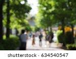 blurred scene of people on tree ... | Shutterstock . vector #634540547