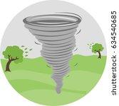 tornado illustration | Shutterstock .eps vector #634540685