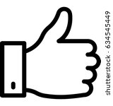 thumbs up vector icon | Shutterstock .eps vector #634545449