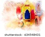 islamic muslim holiday ramadan... | Shutterstock . vector #634548431