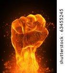 fire fist | Shutterstock . vector #63455245
