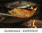 vietnamese banh xeo crepes or... | Shutterstock . vector #634552619