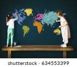 children education learning... | Shutterstock . vector #634553399