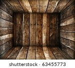 in grunge old wood box texture... | Shutterstock . vector #63455773