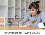 asian girl female teenager... | Shutterstock . vector #634563197