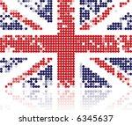 grunge flag of united kingdom... | Shutterstock .eps vector #6345637