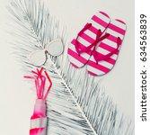 minimal creative art. beach... | Shutterstock . vector #634563839